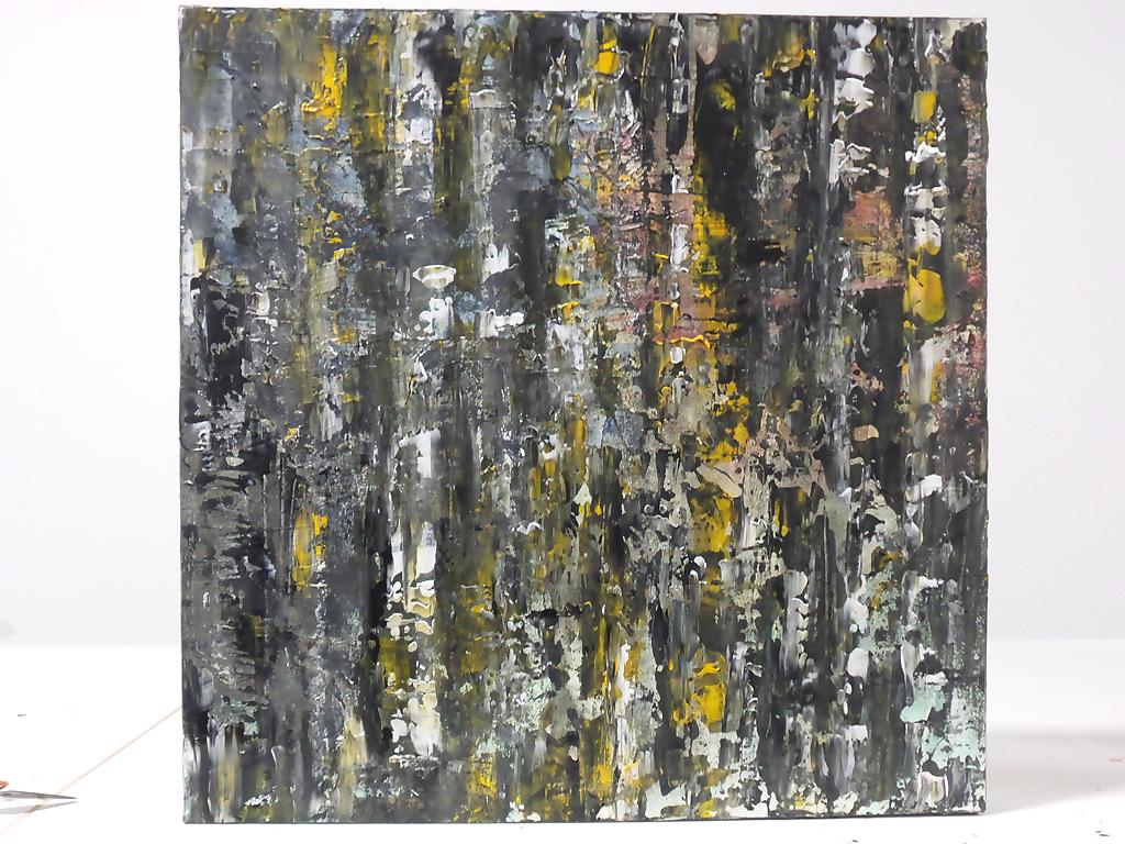 Berken – Steen – Acryl op canvas – 50cmx50cm, Schilderijen