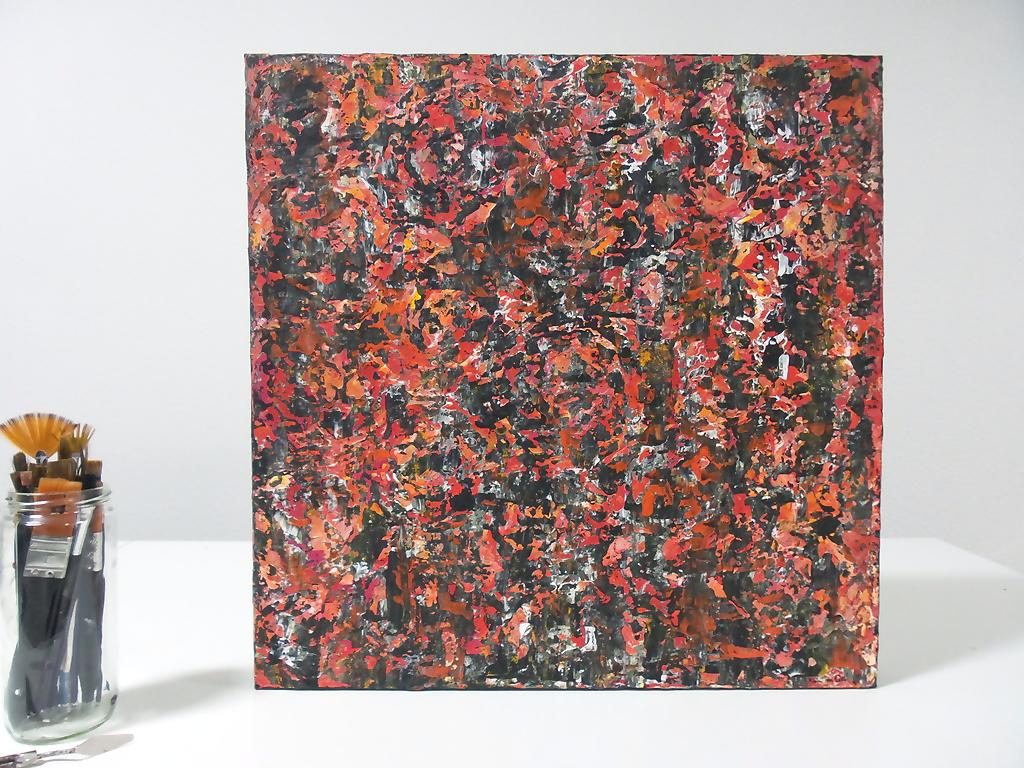 Bloemen – Veld – Acryl op canvas – 50cmx50cm, Schilderijen