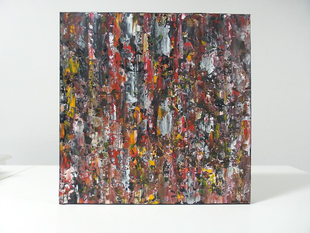 Mensen in alle kleuren en talen – Acryl op canvas – 50cmx50cm, Schilderijen