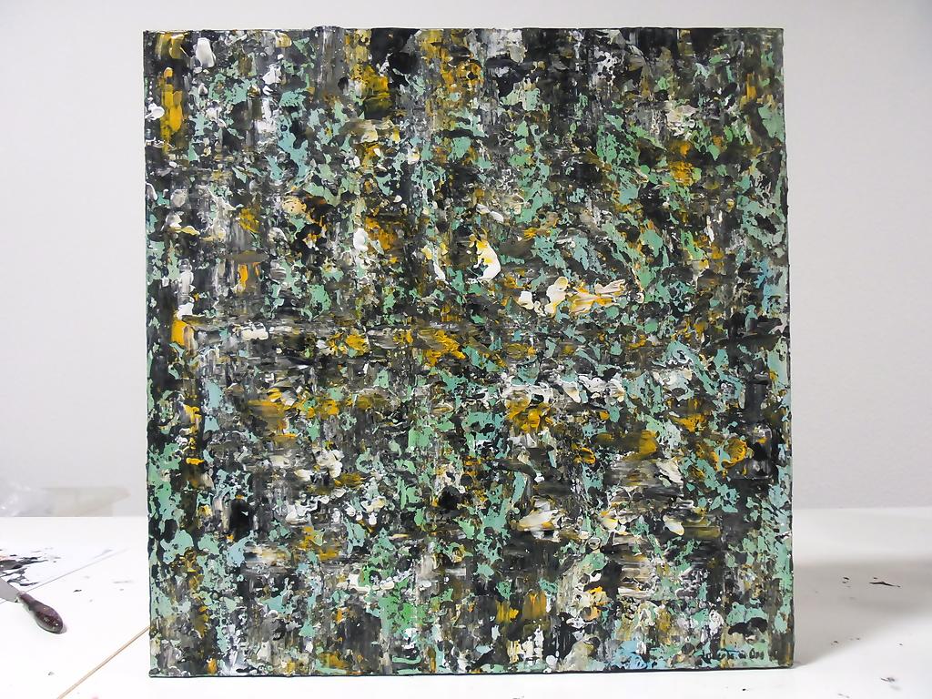 Water – Beek – Acryl op canvas – 50cmx50cm, Schilderijen